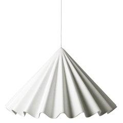 Dancing Pendant by Iskos-Berlin, Fabric Lighting in White Felt