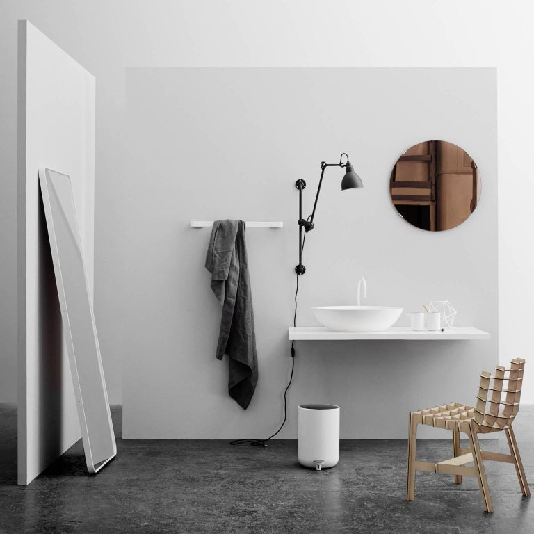 Chinese Rectangular Floor Mirror by Norm Architects, in White For Sale