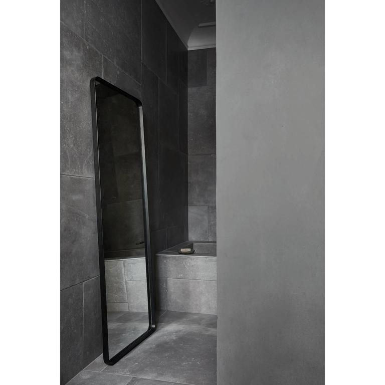 Scandinavian Modern Rectangular Floor Mirror by Norm Architects, in Black For Sale