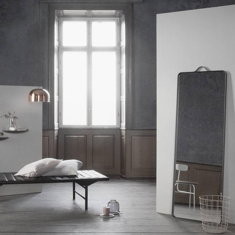Chinese Rectangular Floor Mirror by Norm Architects, in Black For Sale