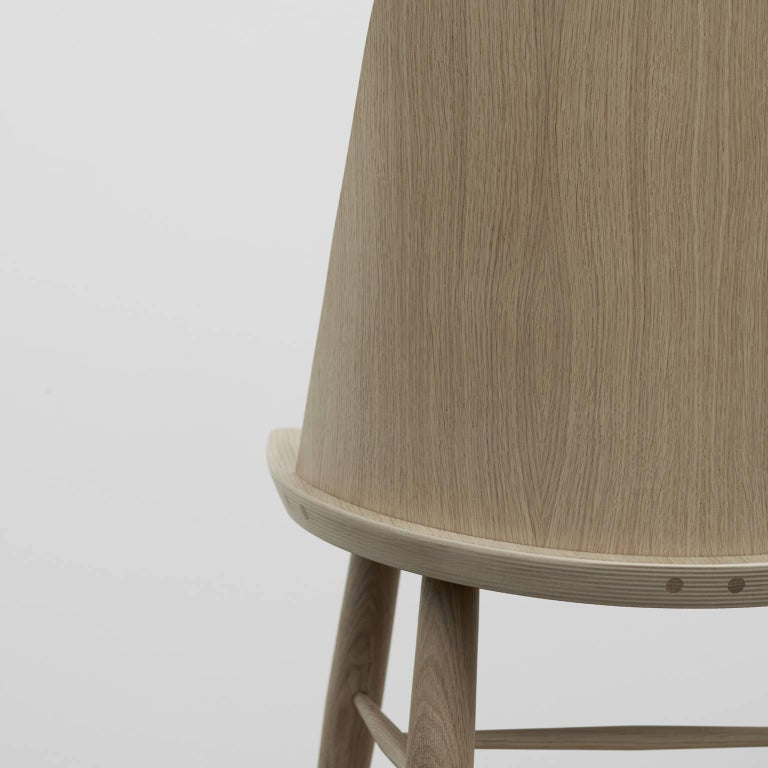 Synnes Dining Chair by Falke Svatun, Natural Oak / Grey Melange 5