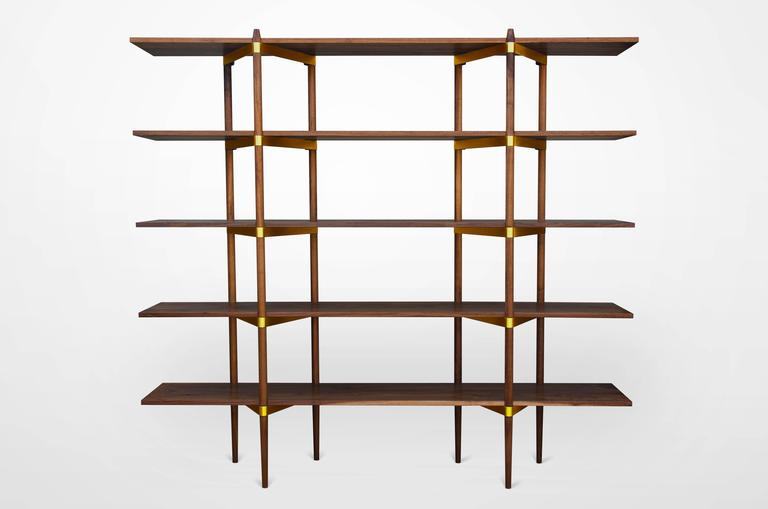 timber kitchen cabinets casey lurie studio modern quot primo quot 2 5 shelf in walnut with 27193