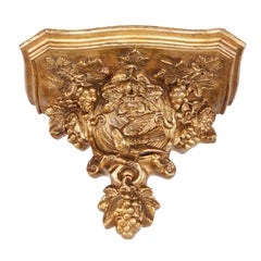 William IV Carved Giltwood and Gesso Wall Bracket