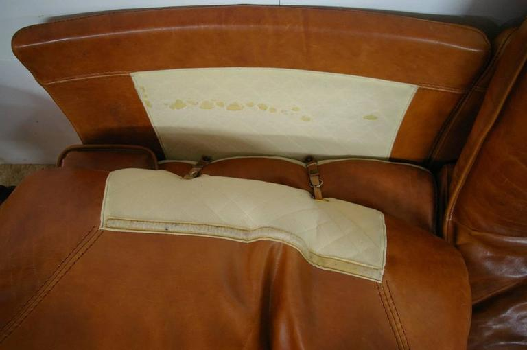 French leather design sofa from circa 1970 1980 for sale at 1stdibs - Lederen sofa italiaans design ...