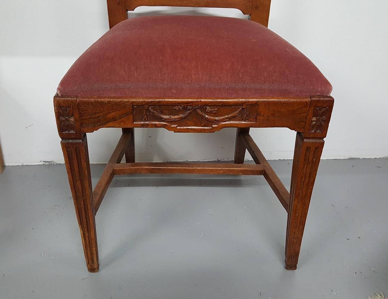 Louis Xvi Stoel : Late th century dutch oak louis xvi chair at stdibs