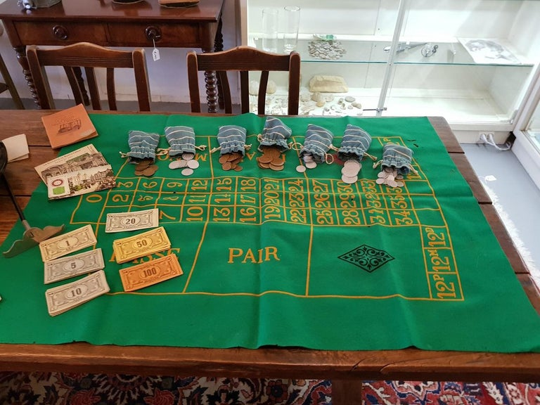 Metal 1950s Vintage French Roulette Game For Sale