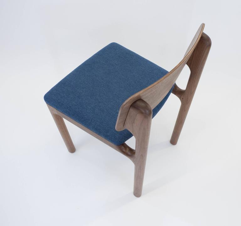 Albert Dining Chair, Solid Walnut and Upholstery 3
