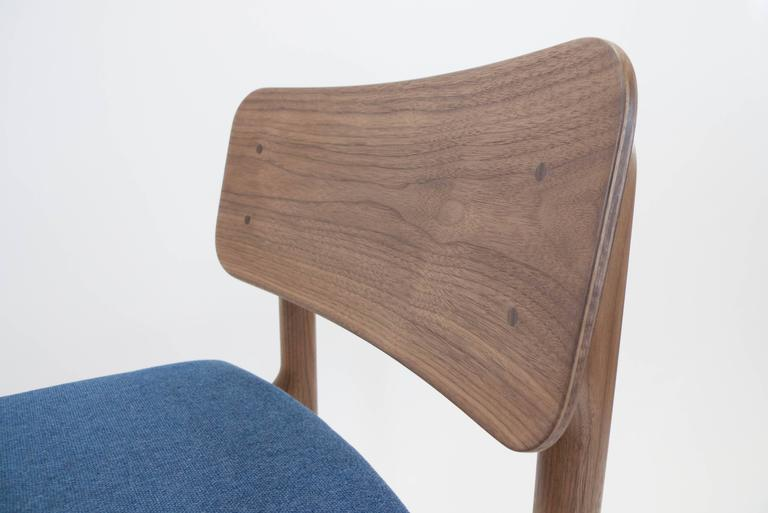 Albert Dining Chair, Solid Walnut and Upholstery 2