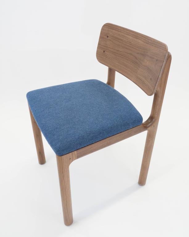 Albert Dining Chair, Solid Walnut and Upholstery 4