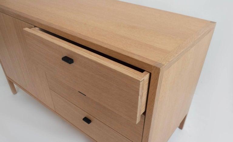 Mid Century Modern Laska Credenza In Quarter Sawn White Oak Three Drawers
