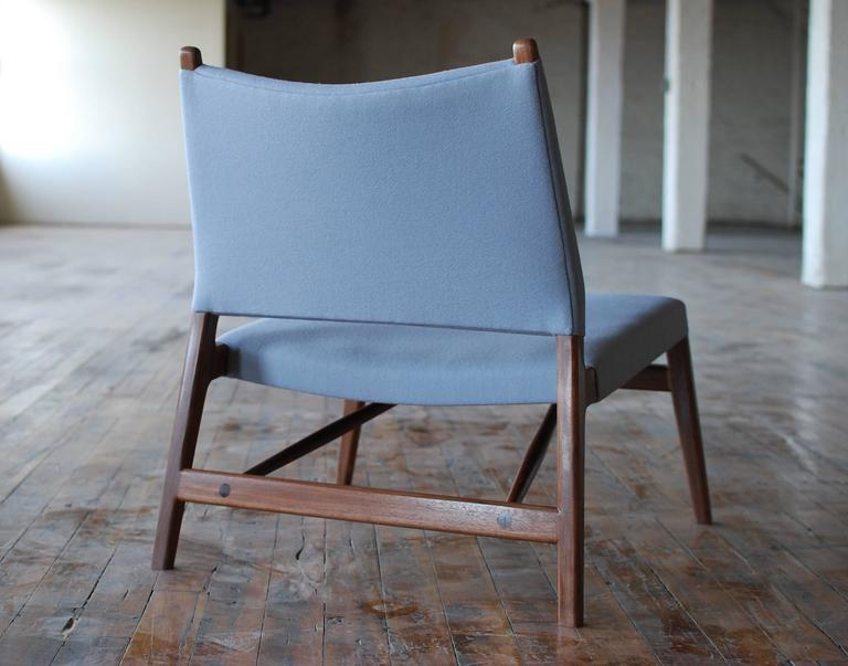 C05 Lounge Chair by Jason Lewis, Solid Walnut with Wool Upholstery 2