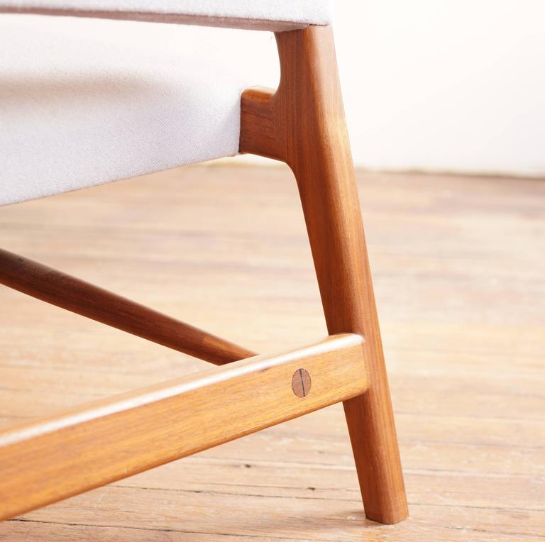 C05 Lounge Chair by Jason Lewis, Solid Walnut with Wool Upholstery For Sale 3