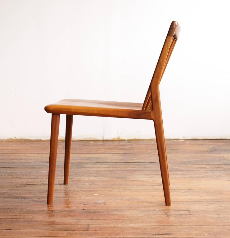 C04. Solid Walnut Dining Chair With Spindle Back, By Jason