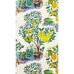 Schumacher Josef Frank Citrus Garden Floral Primary Wallpaper Two Roll Set