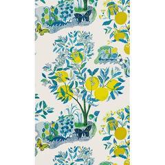 Schumacher Josef Frank Citrus Garden Floral Pool Wallpaper Two Roll Set