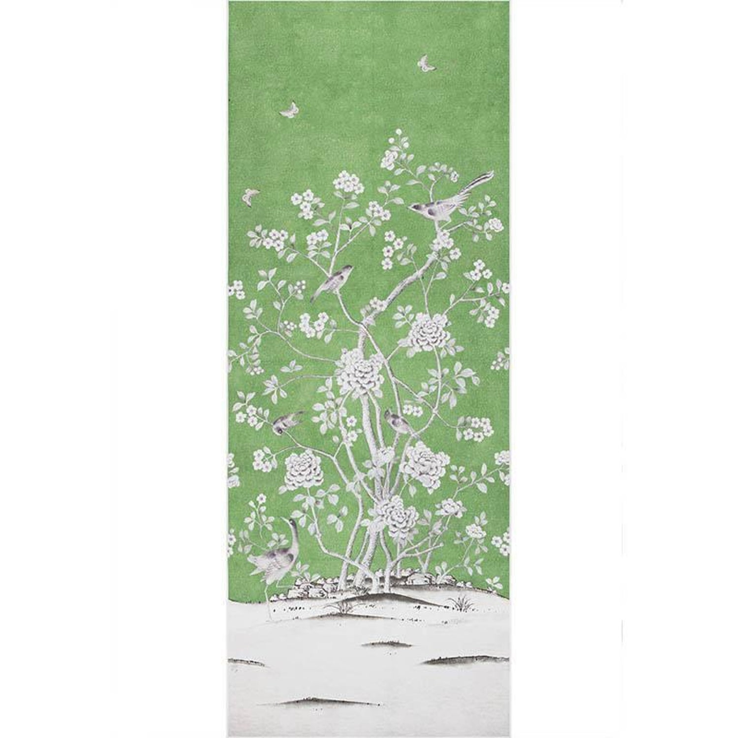 Schumacher Mary McDonald Chinois Palais Floral Lettuce Green ...