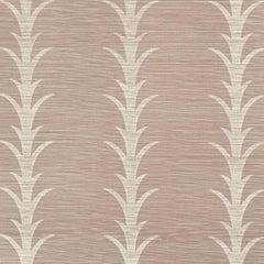 Schumacher Celerie Kimble Acanthus Stripe Hand Printed Sisal Haze Wallpaper