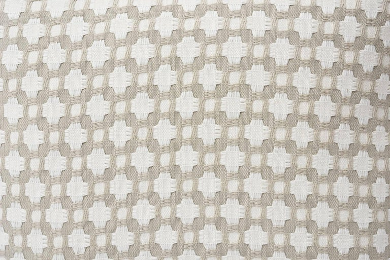 Indian Schumacher Betwixt Geometric Textural Woven White Two-Sided 18