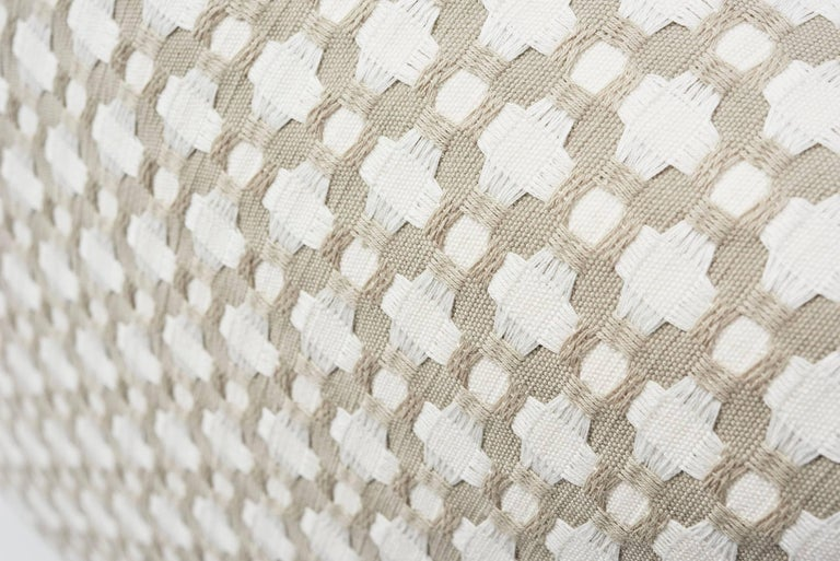 Contemporary Schumacher Betwixt Geometric Textural Woven White Two-Sided 18