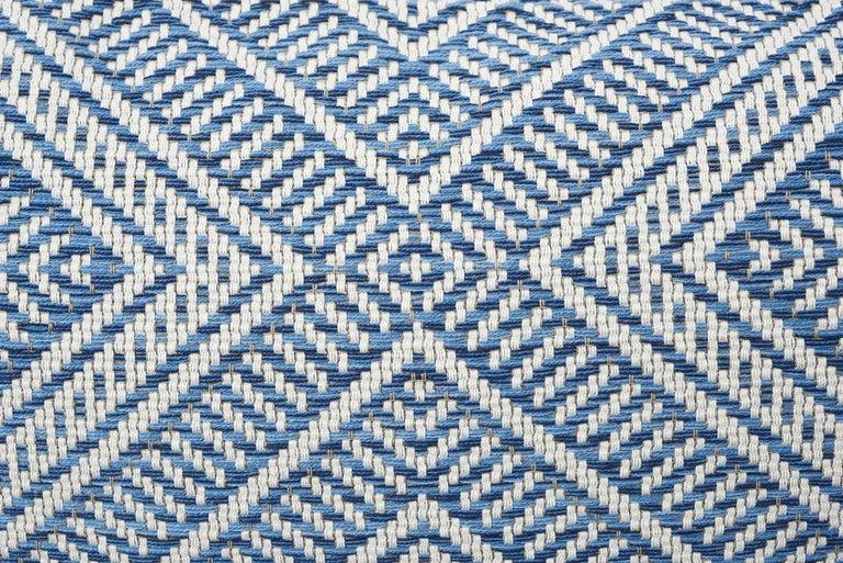 Modern Schumacher Tortola Diamond Woven Indoor/Outdoor Two-Sided Pillow