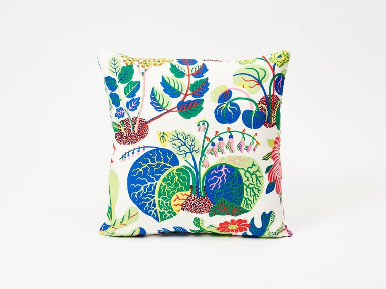 A faithful reproduction of a never-before-seen design by Josef Frank, this pattern bears the designer's signature modernity, whimsy and warmth. A signature Schumacher pattern now featured as a decorative accent, this is sure to elevate any interior