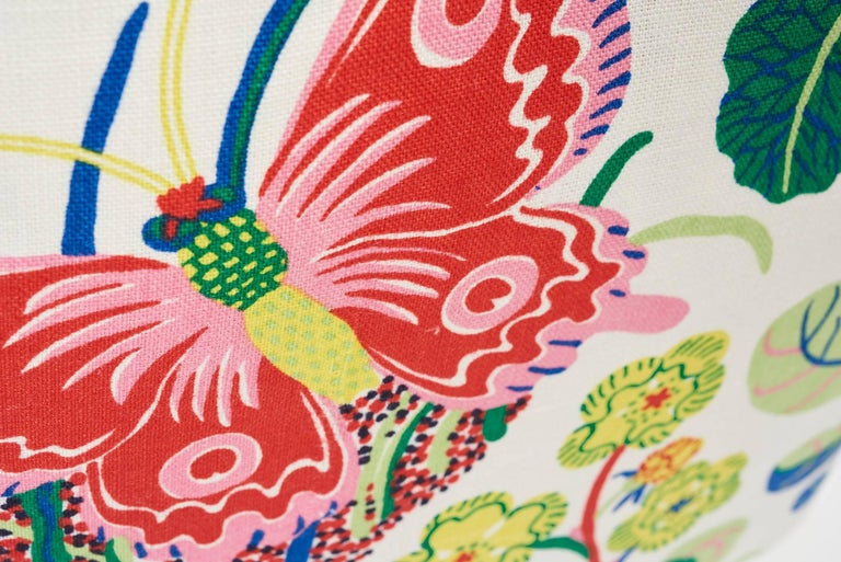 Modern Schumacher Josef Frank Exotic Butterfly Spring Color Two-Sided 18