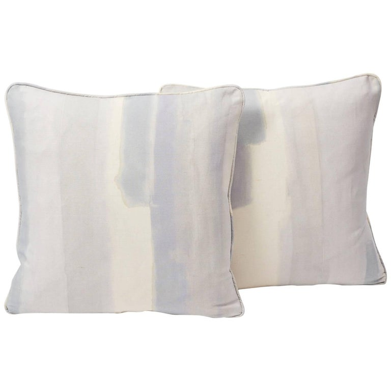 Schumacher Miles Redd Watercolor Soft Lilac Two-Sided 18