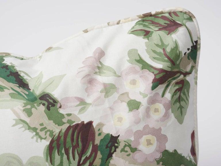 Modern Schumacher Vogue Living Nancy Grisaille Floral Glazed Cotton 18