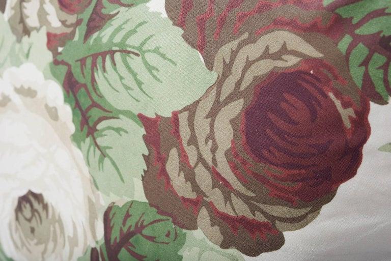 French Schumacher Vogue Living Nancy Grisaille Floral Glazed Cotton 18