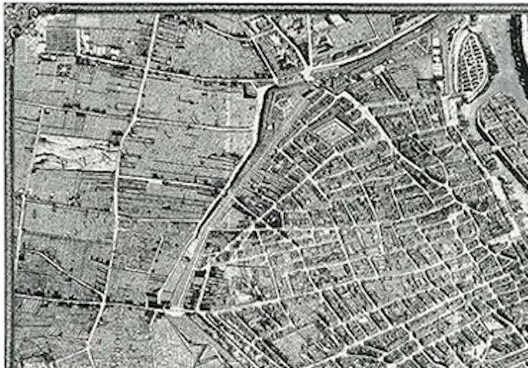 Paris Map Black And White.Schumacher La Cite Black And White Paris Map Wallpaper Panel Unit