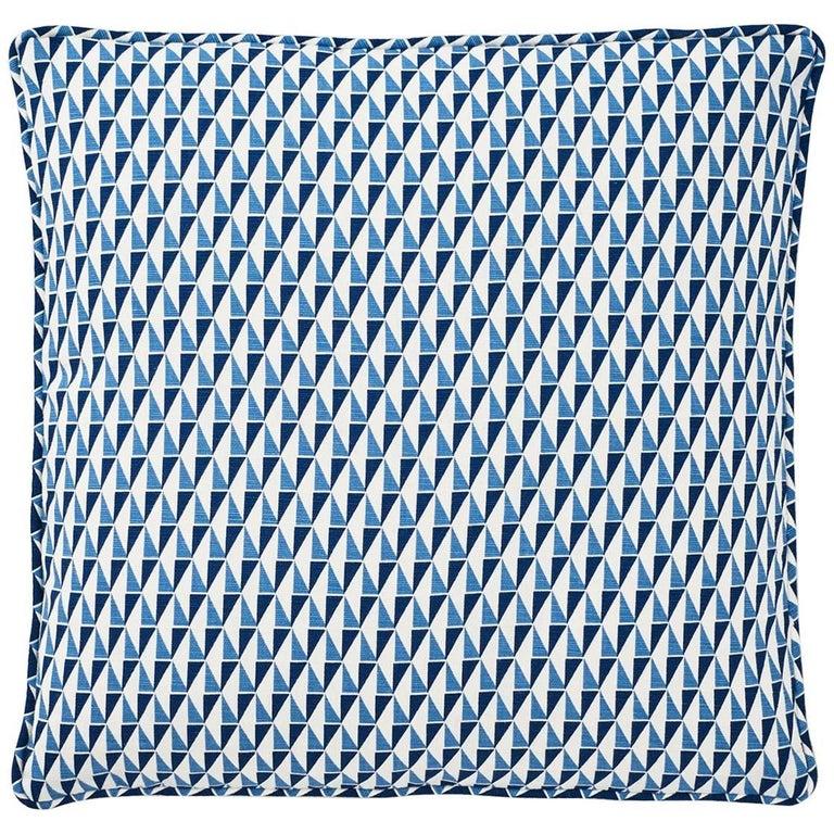 "Schumacher Frank Lloyd Wright Design 107 Blue Two-Sided 18"" Pillows, Pair"
