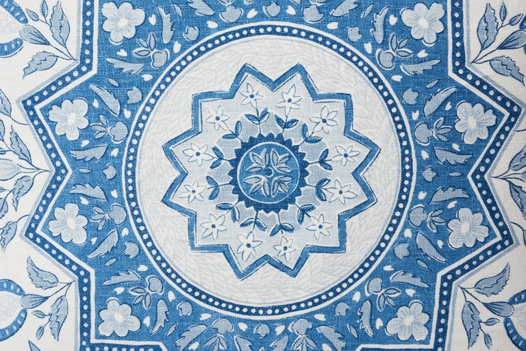 This stunning large-scale medallion evokes timeless motifs from India and Turkey for a chic, global vibe. Part of the Mark D. Sikes collection, this pattern is now featured as an exquisite decorative accent, which is sure to enliven any interior or