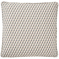Frank Lloyd Wright Schumacher Design 107 Grey Sand Two-Sided Linen Pillow