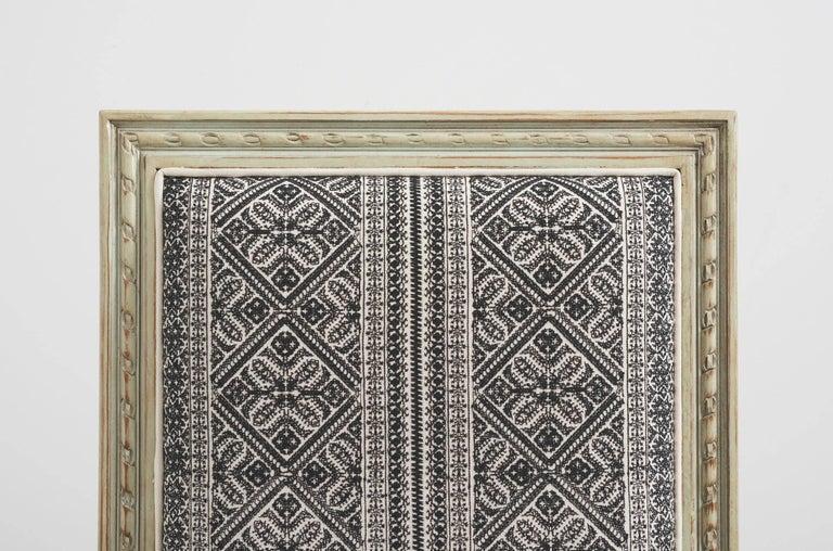 Schumacher Louis XVI Vogue Living Toledo Noir Upholstered Side Chairs, Pair For Sale 1