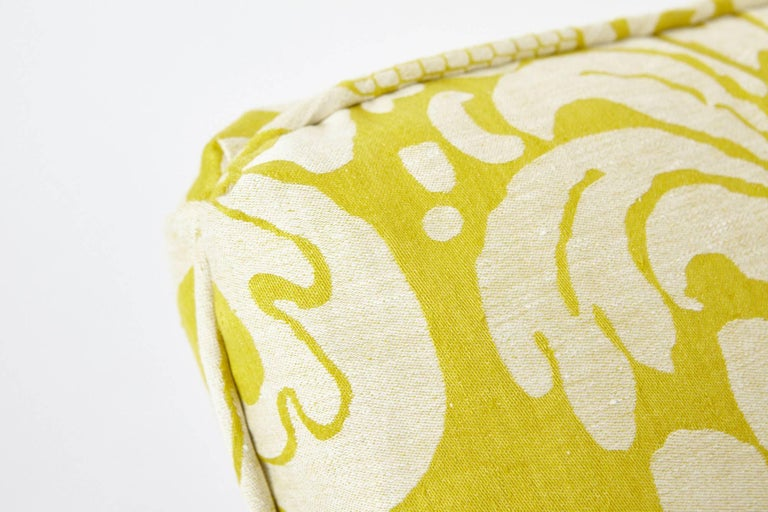 Schumacher Alessandra Branca Anna Damask Acid Green Two-Sided 18