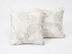 "Schumacher Sandoway Vine French Floral Motif Linen Double-Sided 18"" Pillow"