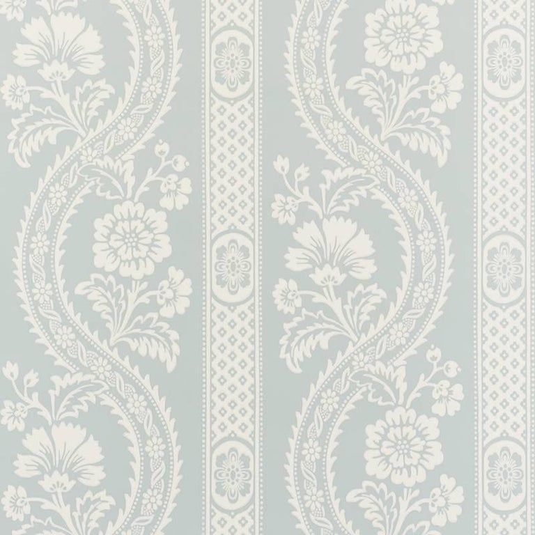 Schumacher chenonceau floral persian damask surface print for Schumacher chenonceau charcoal wallpaper