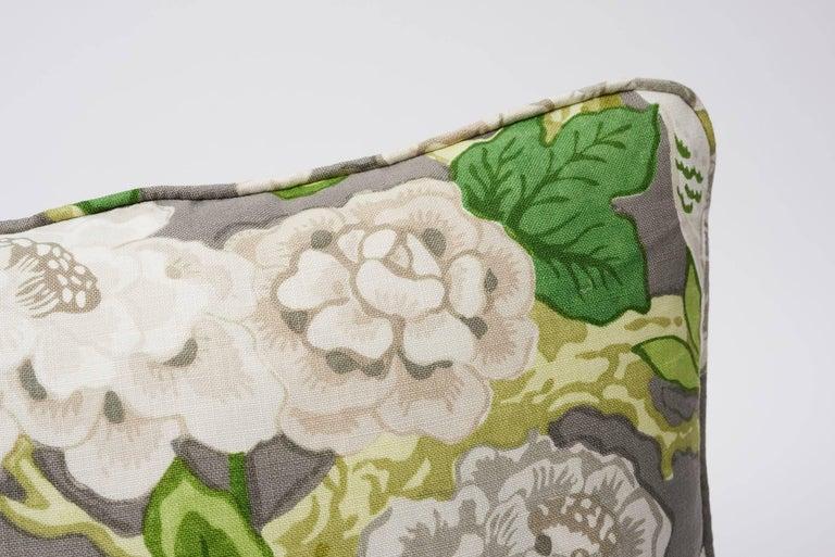 British Schumacher Mary McDonald Bermuda Blossoms Slate Gray Two-Sided 18