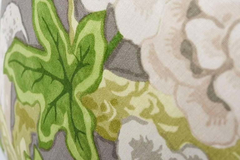 Contemporary Schumacher Mary McDonald Bermuda Blossoms Slate Gray Two-Sided 18