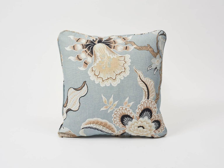 A Classic Tree of Life pattern with a twist. In collaboration with Celerie Kemble, the dramatically scaled print combines stylized exotic motifs with an au courant palette. Featured as a decorative accent, this is sure to fashionably enhance and