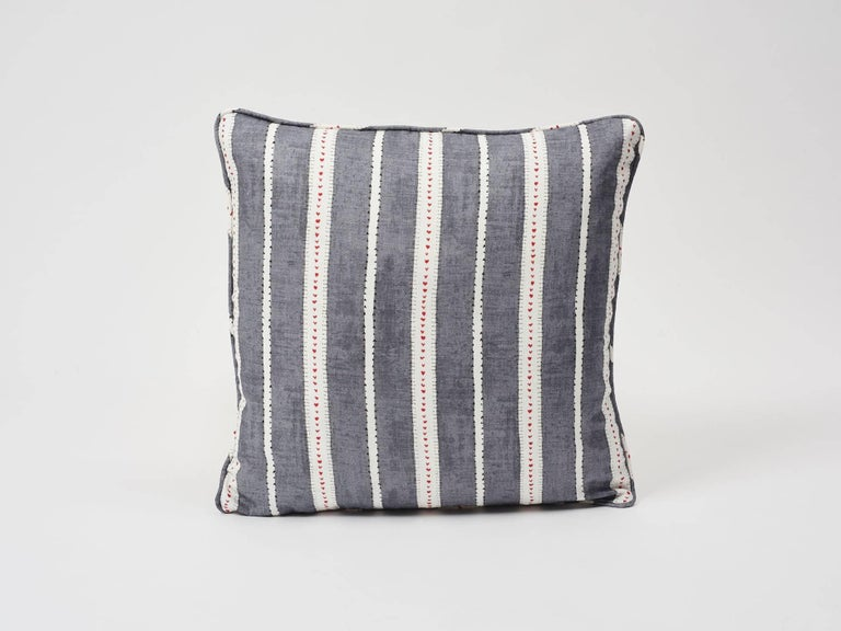 Amour is an especially lovely stripe created by Schumacher's Design Studio. Printed on fine linen, its delicate lines and subtle colorations have a charming, hand-drawn effect. Part of Schumacher's French Revolution Collection, these decorative