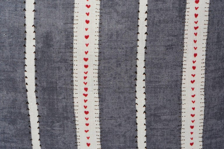 Thai Schumacher Amour Stripe Fine Linen Charcoal White Two-Sided 18