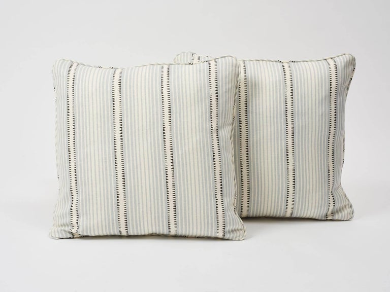 In collaboration with David Oliver, this Schumacher design is a hand-drawn stripe with beguiling details and a chic Bauhaus spirit! Featured as a decorative accent, this is sure to enliven and elevate any interior or setting!  Since Schumacher was
