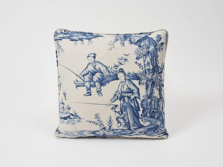 Shengyou Toile is based on a priceless 18th century document in our archives by court painter Jean-Baptiste Pillement. Hand-drawn, engraved and featured in an indigo colorway, this pattern has rich dimension. A Schumacher Classic now featured as a