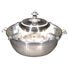 A Very Elegant Silver Plated Caviar Bowl by Christofle, France Circa 1970