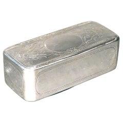 Very Good 19th Century Austrian Silver Snuff Box, Vienna, 1867