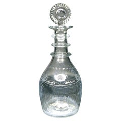 Very Fine & Rare Early 19th Century Waterloo Glass Company Decanter, Ireland