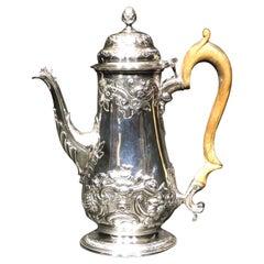A Fine George IV Sterling Silver Coffee Pot by William Bateman 1st, London 1819