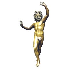 Very Good Grand Tour Bronze of The Dancing Faun of Pompeii, Italy Circa 1870
