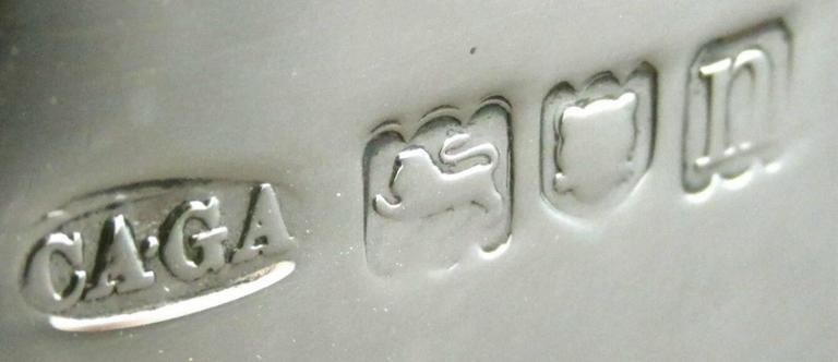 Georgian Style Sterling Silver Tea Caddy by Asprey, Hallmarked London, 1908 For Sale 1